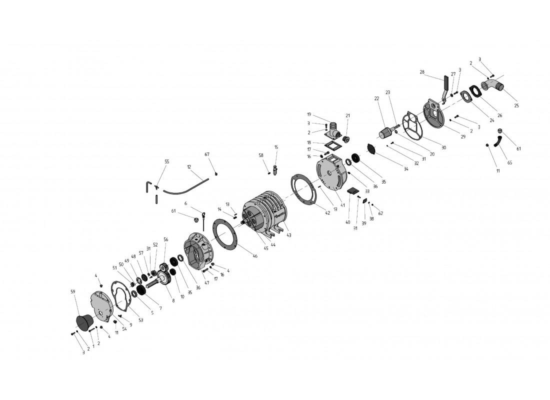 DESPIECE DEPRESOR HERTELL KD-8000 540 RPM